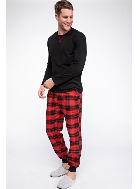 DeFacto Pijama Takımı Siyah